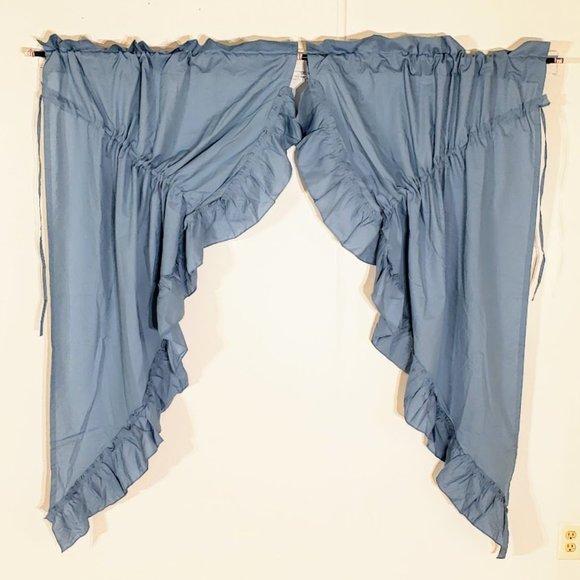 Vintage Other - Vtg Priscilla Curtains Cotton Drawstring 72W x 64L